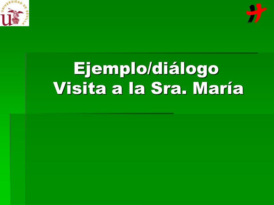 Ejemplo/diálogo Visita a la Sra. María