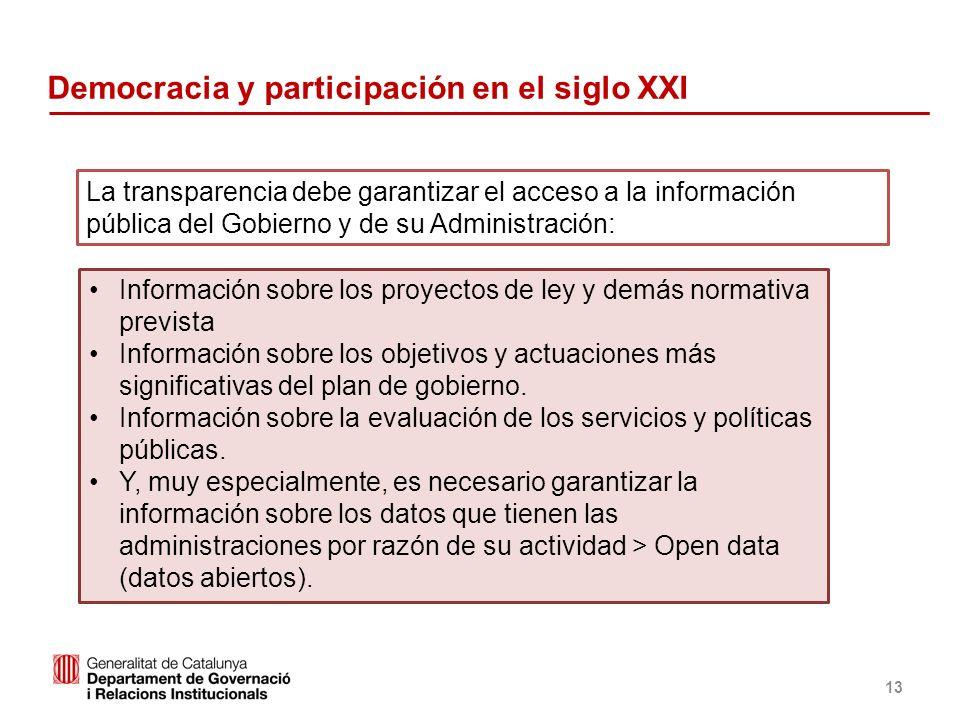 Identificació del departament o organisme 13 Información sobre los proyectos de ley y demás normativa prevista Información sobre los objetivos y actua