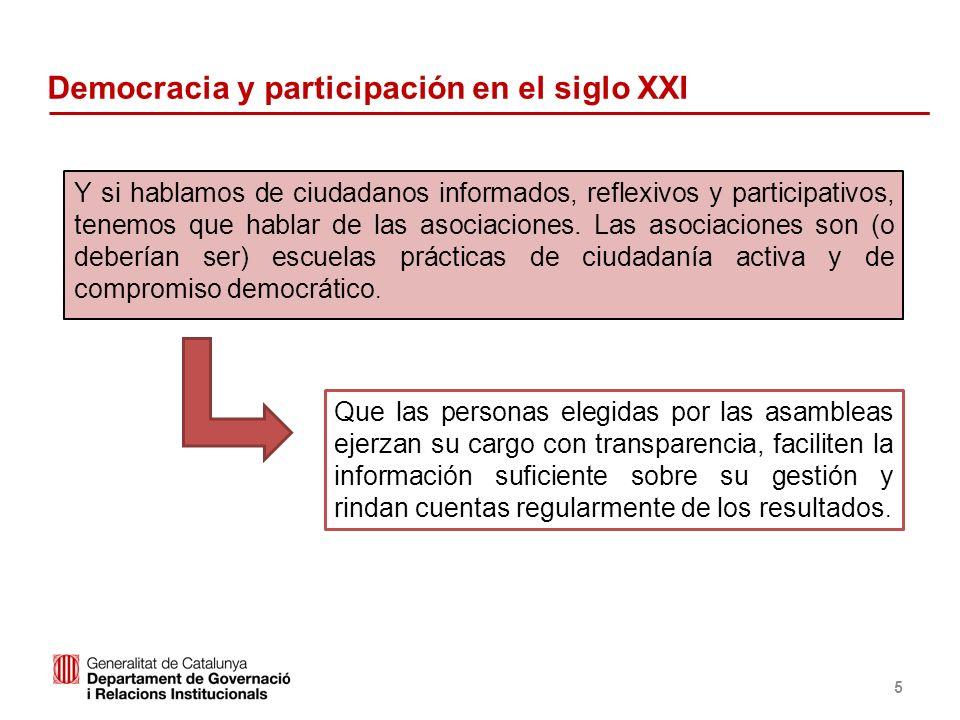 Identificació del departament o organisme Democracia y participación en el siglo XXI Y si hablamos de ciudadanos informados, reflexivos y participativ