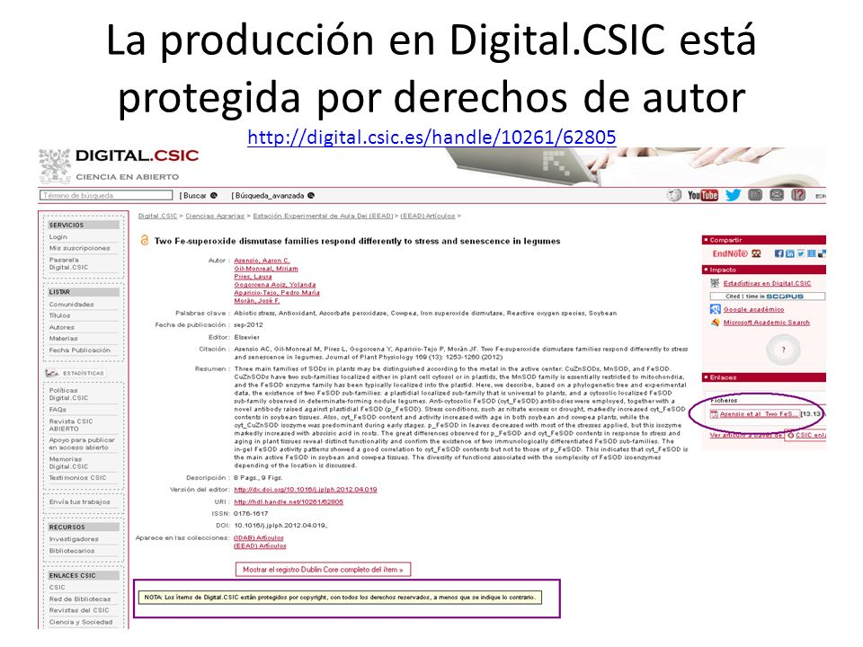 La producción en Digital.CSIC está protegida por derechos de autor http://digital.csic.es/handle/10261/62805 http://digital.csic.es/handle/10261/62805