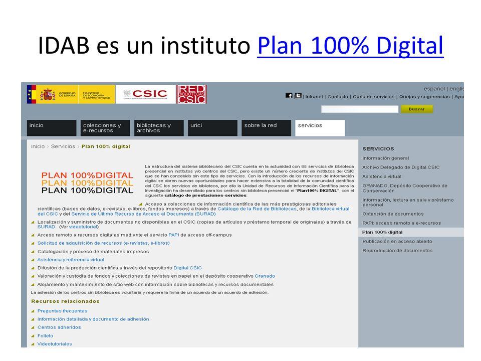 IDAB es un instituto Plan 100% DigitalPlan 100% Digital