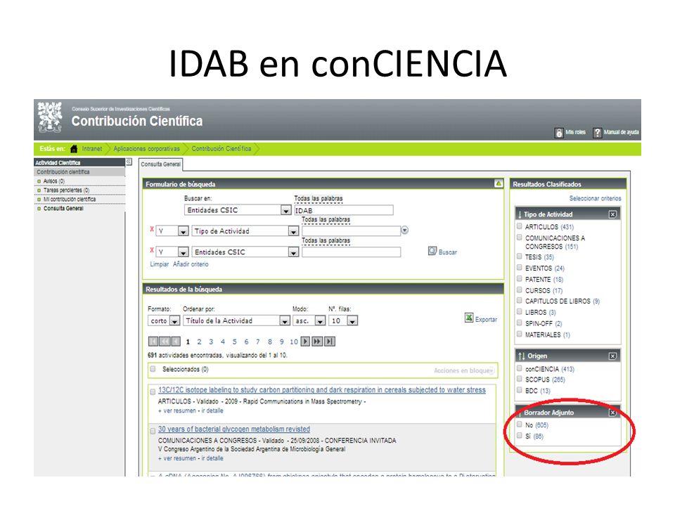 IDAB en conCIENCIA