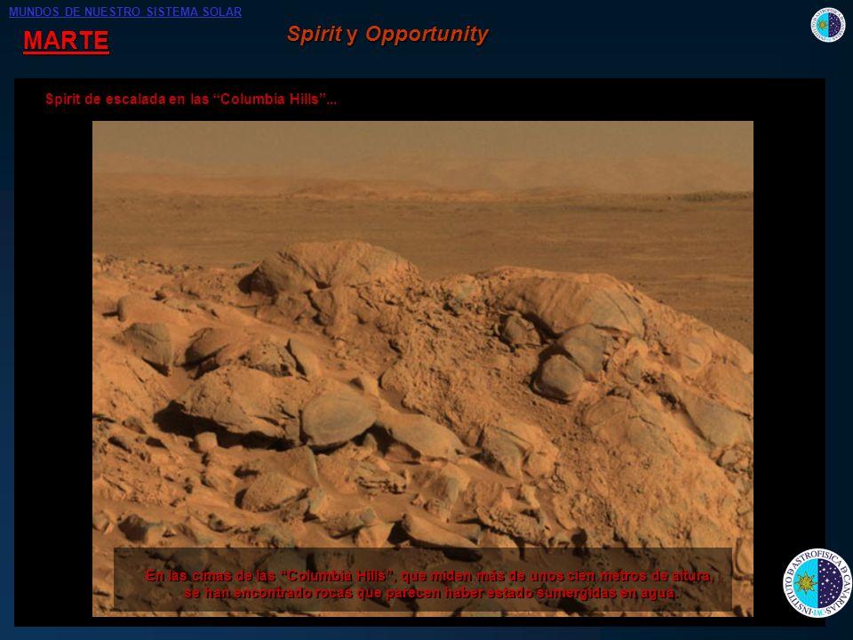 MARTE En búsqueda de : - Evidencias de la pasada existencia de agua líquida en la superficie marciana. de agua líquida en la superficie marciana. - Po