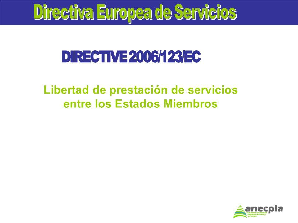 Libertad de prestación de servicios entre los Estados Miembros