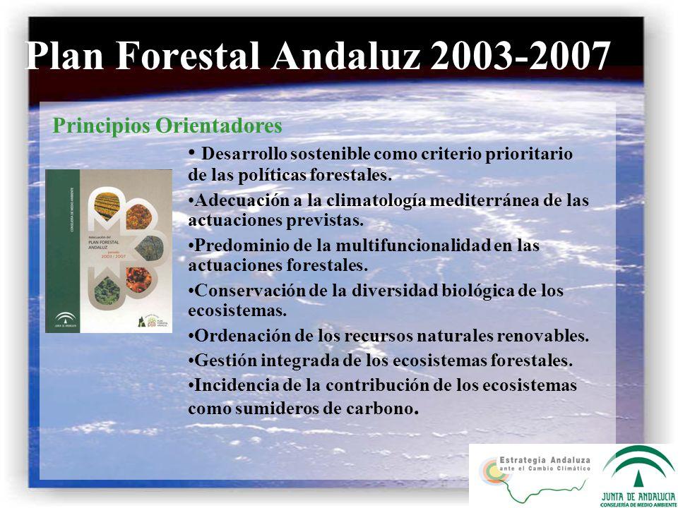 Desarrollo sostenible como criterio prioritario de las políticas forestales. Adecuación a la climatología mediterránea de las actuaciones previstas. P