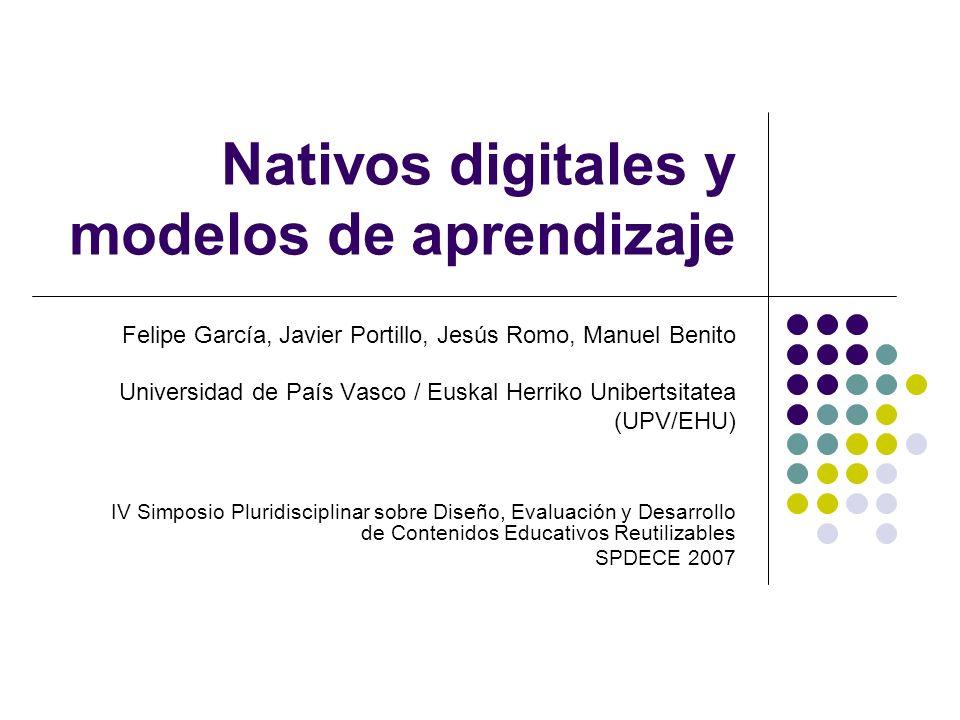 Bilbao septiembre 2007SPDECE2 Indice Introducción Descripción y características del concepto Nativo Digital Nativos vs.