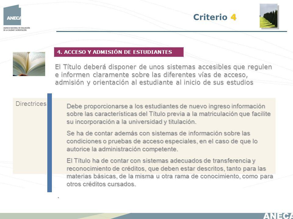 Debe proporcionarse a los estudiantes de nuevo ingreso información sobre las características del Título previa a la matriculación que facilite su inco