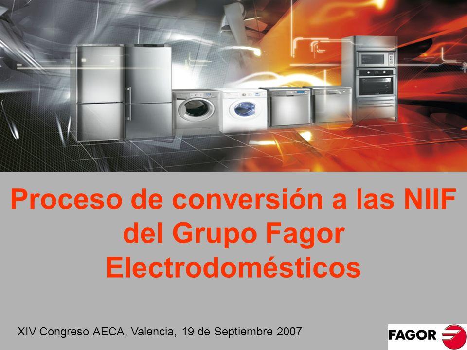 Proceso de conversión a las NIIF del Grupo Fagor Electrodomésticos XIV Congreso AECA, Valencia, 19 de Septiembre 2007