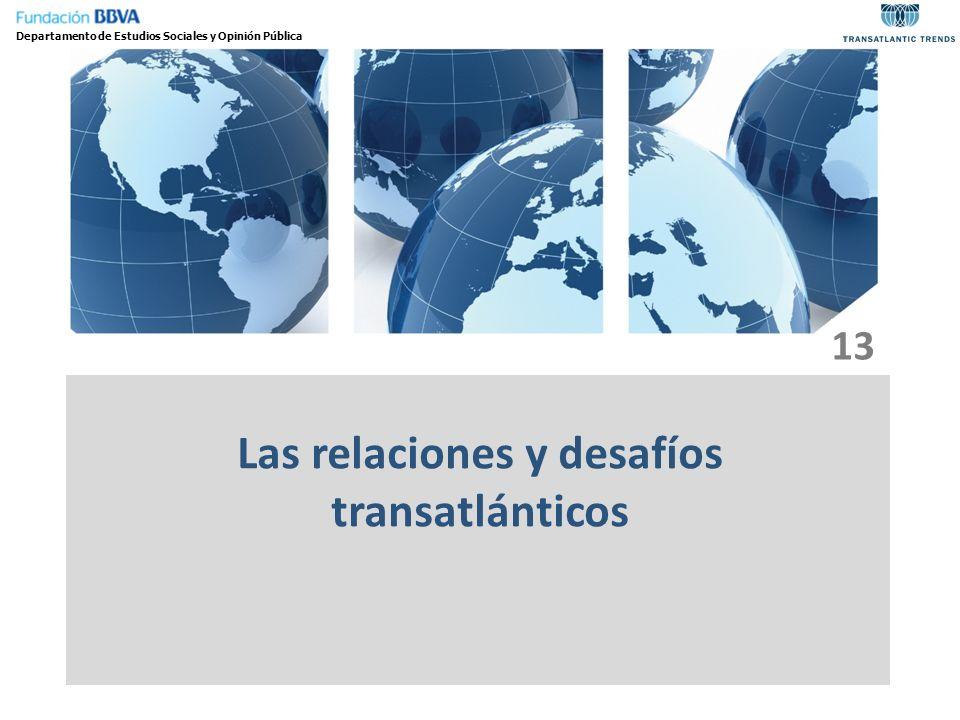 Las relaciones y desafíos transatlánticos Departamento de Estudios Sociales y Opinión Pública 13