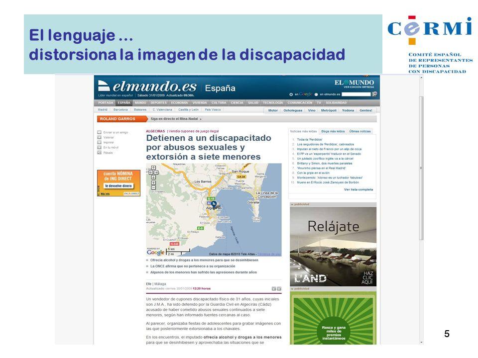 El lenguaje … distorsiona la imagen de la discapacidad 5