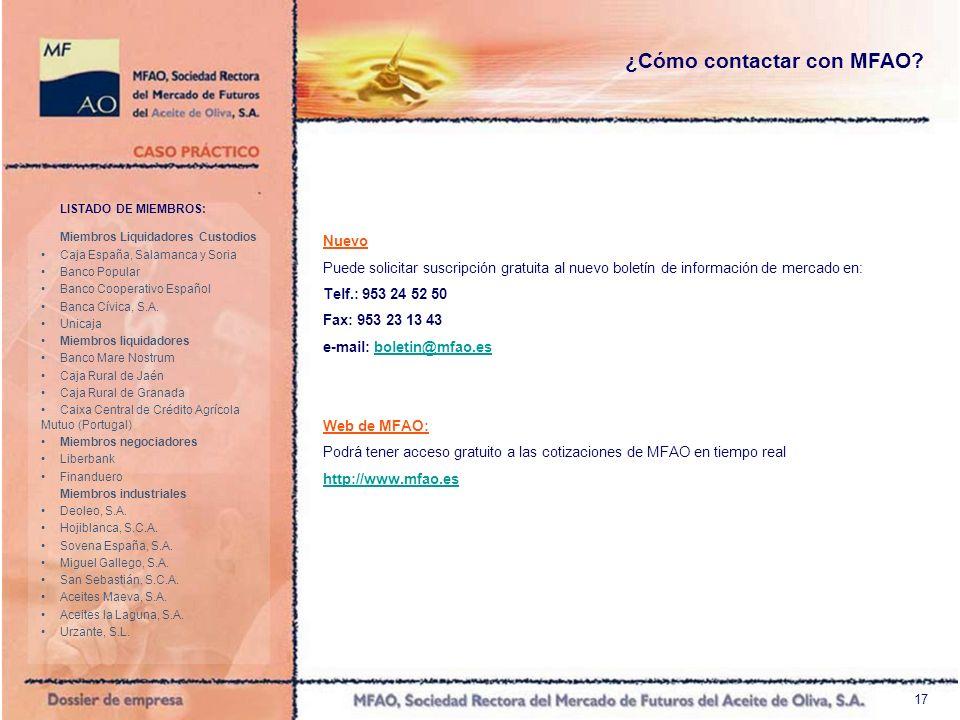 17 LISTADO DE MIEMBROS: Miembros Liquidadores Custodios Caja España, Salamanca y Soria Banco Popular Banco Cooperativo Español Banca Cívica, S.A. Unic