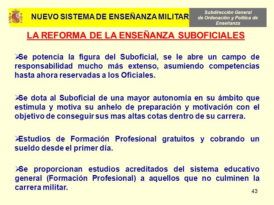 Subdirección General de Ordenación y Política de Enseñanza 43 Se proporcionan estudios acreditados del sistema educativo general (Formación Profesiona