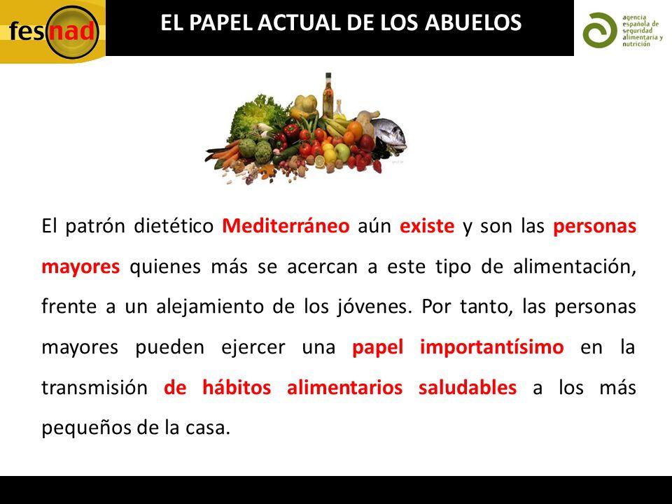 El patrón dietético Mediterráneo aún existe y son las personas mayores quienes más se acercan a este tipo de alimentación, frente a un alejamiento de