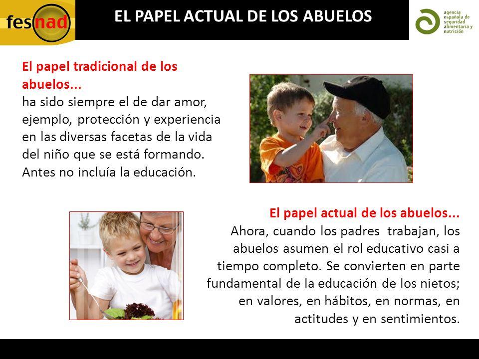 El papel tradicional de los abuelos... ha sido siempre el de dar amor, ejemplo, protección y experiencia en las diversas facetas de la vida del niño q