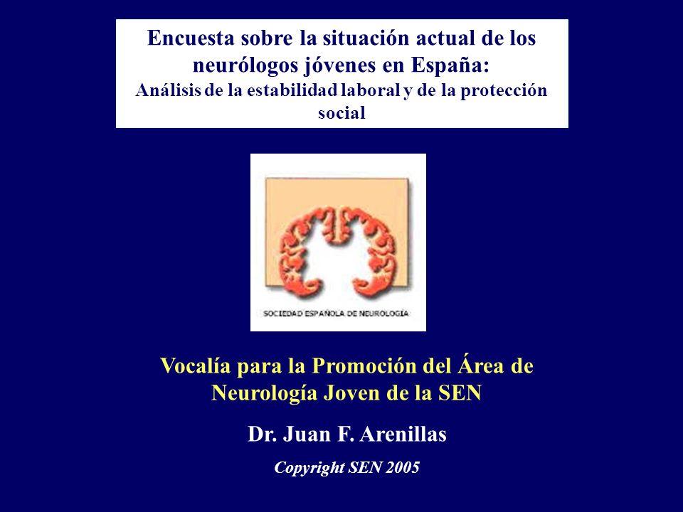Encuesta sobre la situación actual de los neurólogos jóvenes en España: Análisis de la estabilidad laboral y de la protección social Vocalía para la P