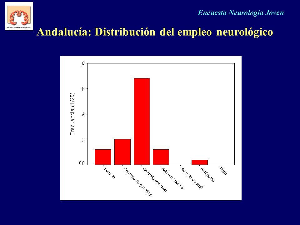 Encuesta Neurología Joven Andalucía: Distribución del empleo neurológico