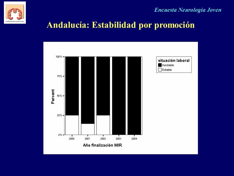 Encuesta Neurología Joven Andalucía: Estabilidad por promoción