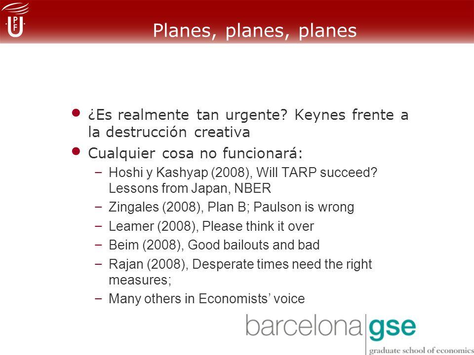 Planes, planes, planes ¿Es realmente tan urgente.