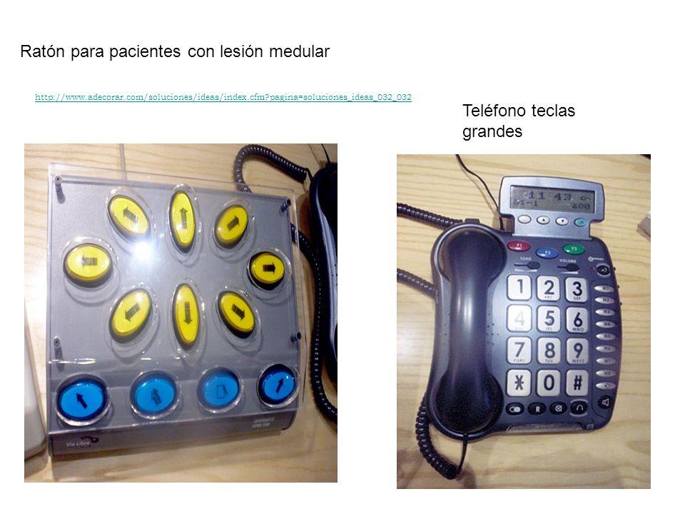Ratón para pacientes con lesión medular Teléfono teclas grandes http://www.adecorar.com/soluciones/ideas/index.cfm?pagina=soluciones_ideas_032_032