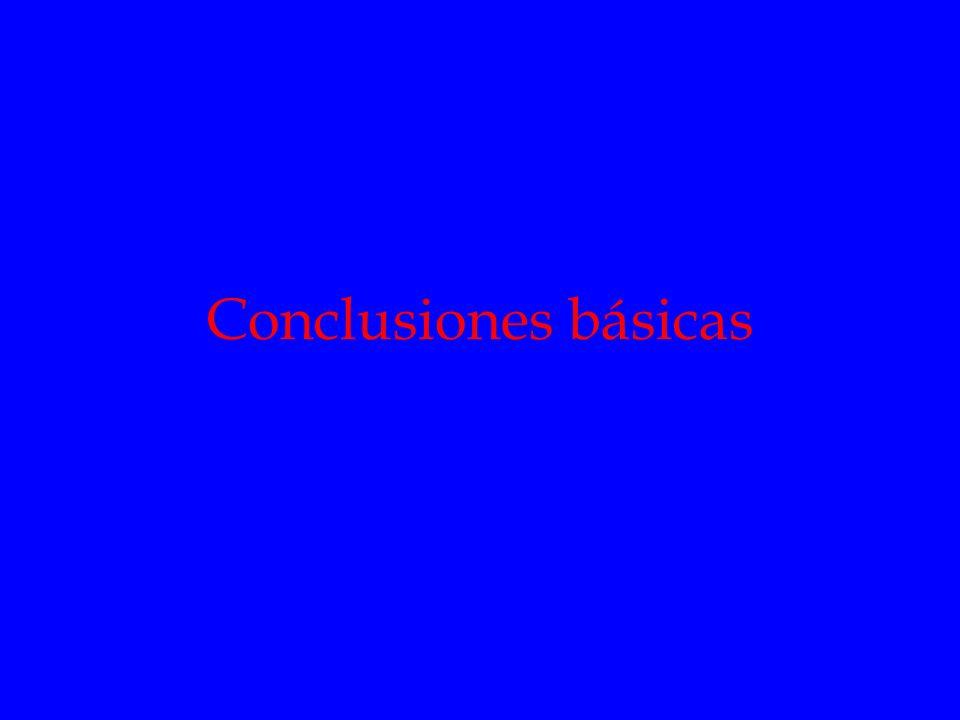 Conclusiones básicas