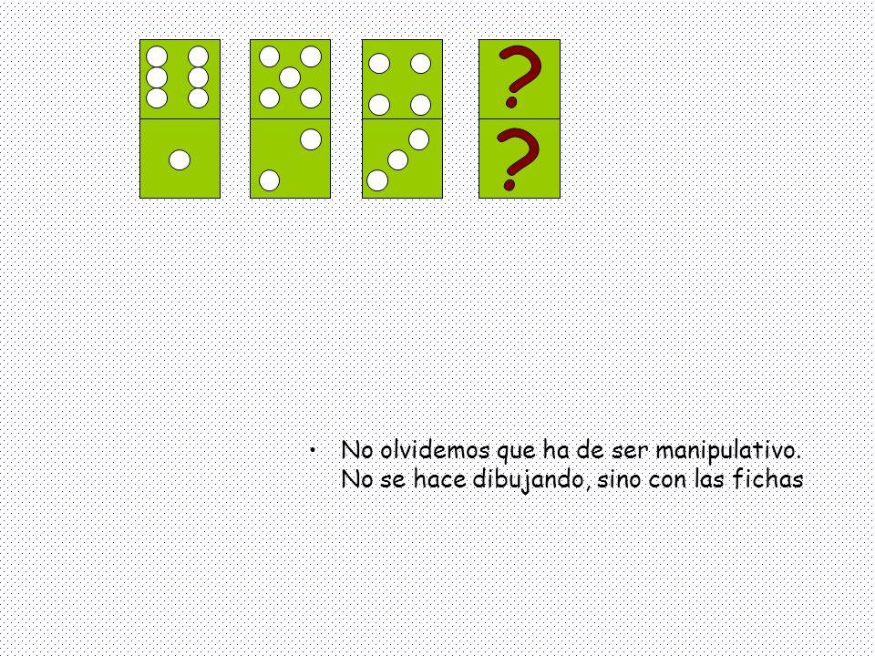 Doblando (imaginariamente) fichas de dominó, Podríamos fabricar un dado.