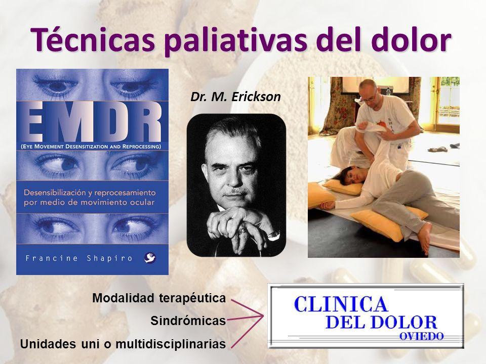 Dr. M. Erickson Modalidad terapéutica Sindrómicas Unidades uni o multidisciplinarias