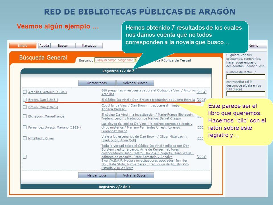 RED DE BIBLIOTECAS PÚBLICAS DE ARAGÓN.