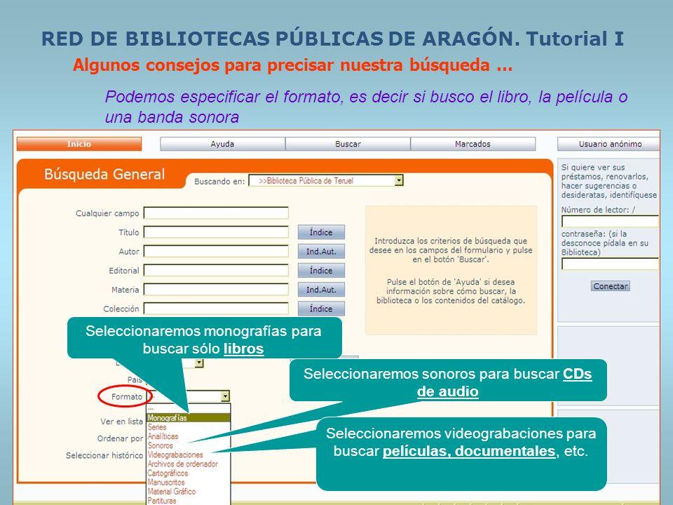 RED DE BIBLIOTECA S PÚBLICAS DE ARAGÓN.