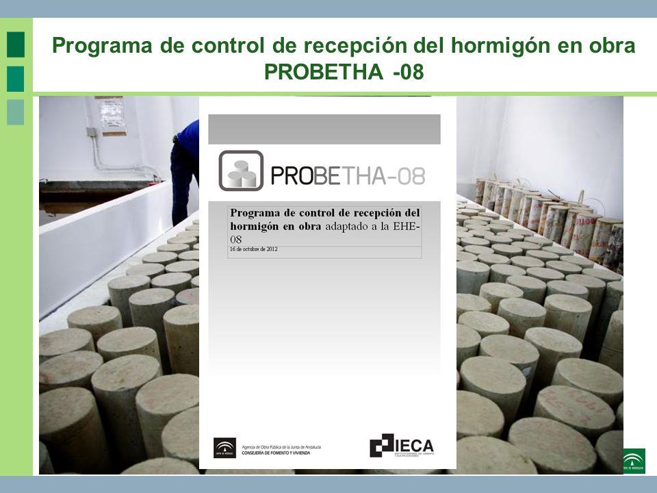 OBJETIVOS DEL PROGRAMA Desarrollar una herramienta para el control estadístico del hormigón en obra según la EHE-08.