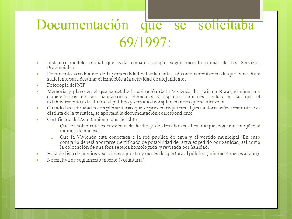 Documentación que se solicitaba 69/1997: Instancia modelo oficial que cada comarca adaptó según modelo oficial de los Servicios Provinciales. Document