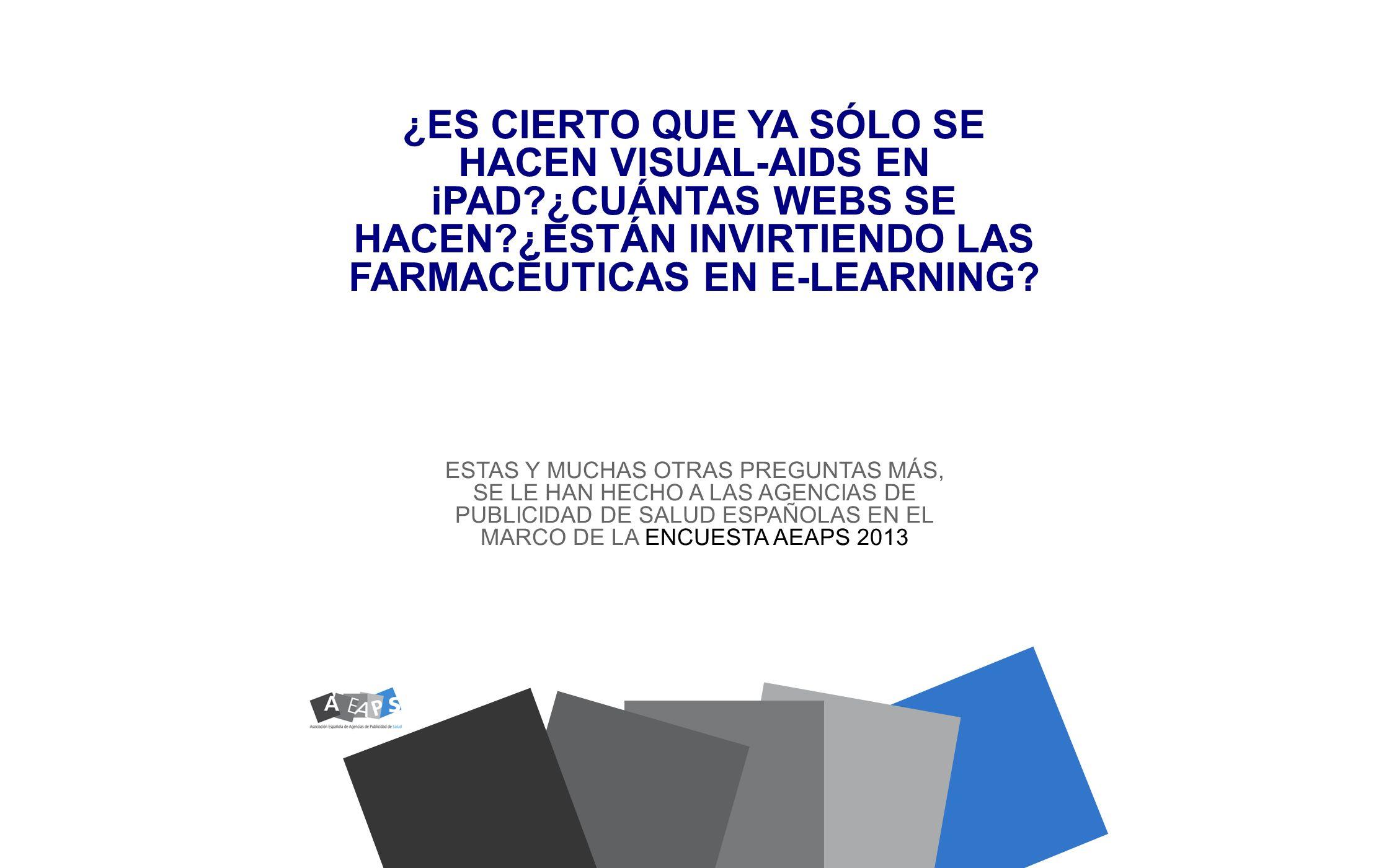 DATOS DE LA ENCUESTA ENCUESTA REALIZADA MEDIANTE CUESTIONARIO ONLINE, SOBRE UNA MUESTRA DE 19 AGENCIAS ESPECIALIZADAS DEL SECTOR DE PUBLICIDAD DE SALUD EN MADRID Y BARCELONA, EN MAYO DE 2013