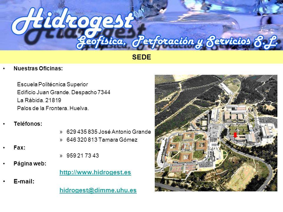 Nuestras Oficinas: Escuela Politécnica Superior Edificio Juan Grande. Despacho 7344 La Rábida. 21819 Palos de la Frontera. Huelva. Teléfonos: »629 435