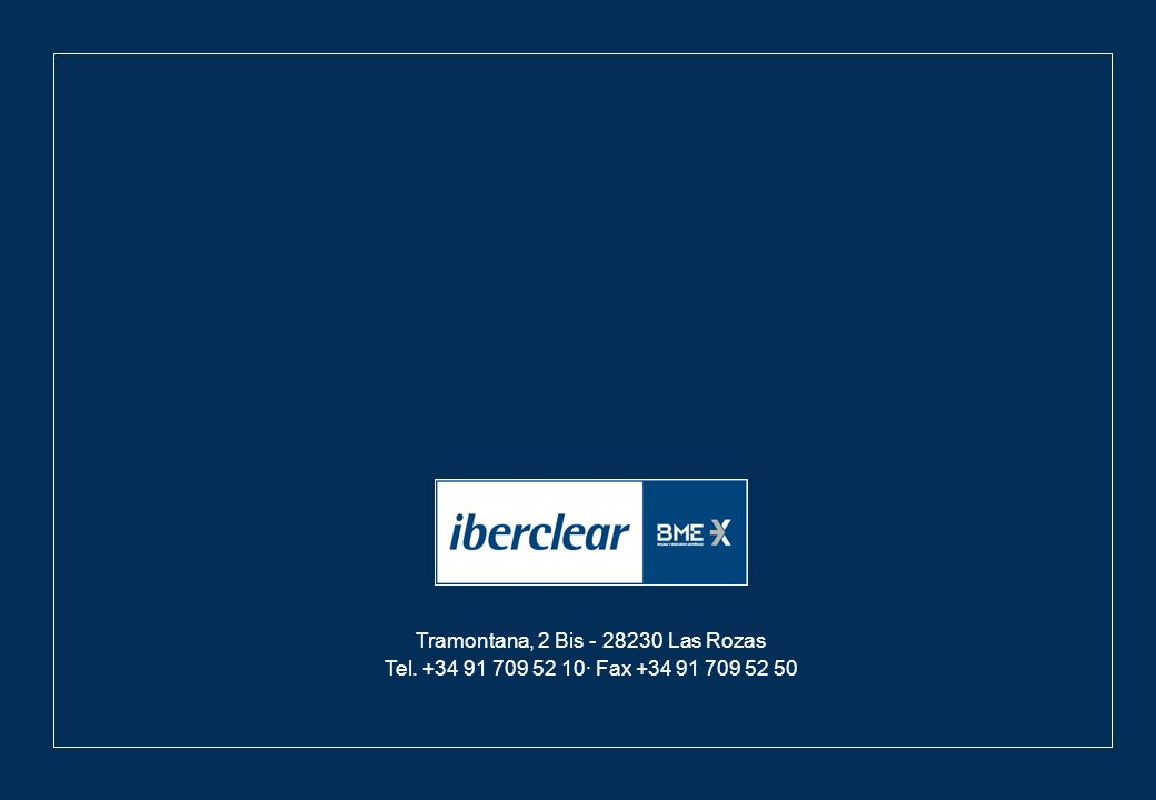 - 13 - Septiembre 2012 Tramontana, 2 Bis - 28230 Las Rozas Tel. +34 91 709 52 10· Fax +34 91 709 52 50