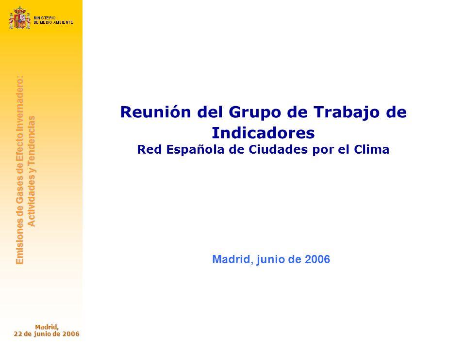 oecc Oficina Española de Cambio Climático Emisiones de Gases de Efecto Invernadero: Emisiones de Gases de Efecto Invernadero: Actividades y Tendencias Actividades y Tendencias Madrid, 22 de junio de 2006 32 Variables de actividad del sector agricultura SECTOR RESIDUOS Evolución de las emisiones de CO2 eq.