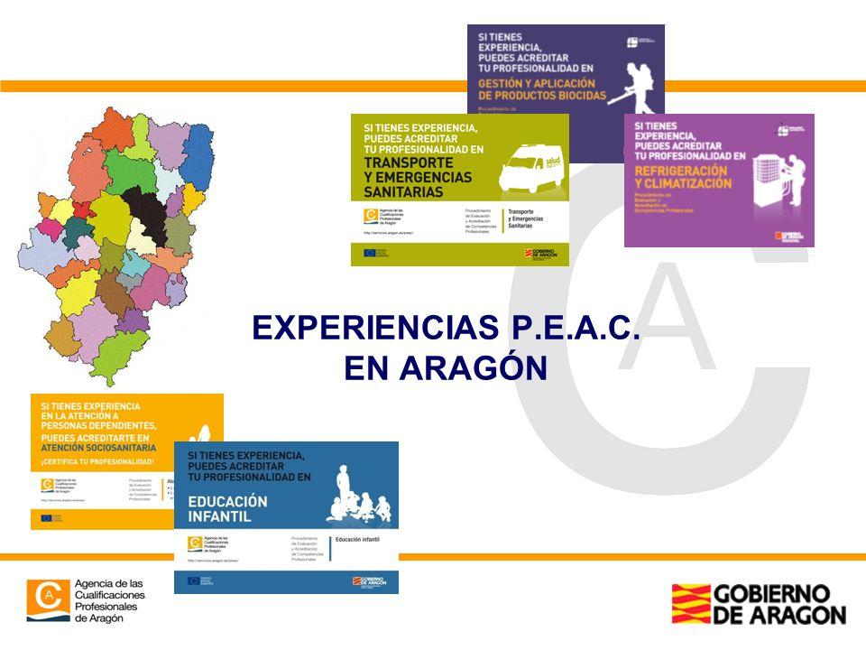 EXPERIENCIAS P.E.A.C. EN ARAGÓN