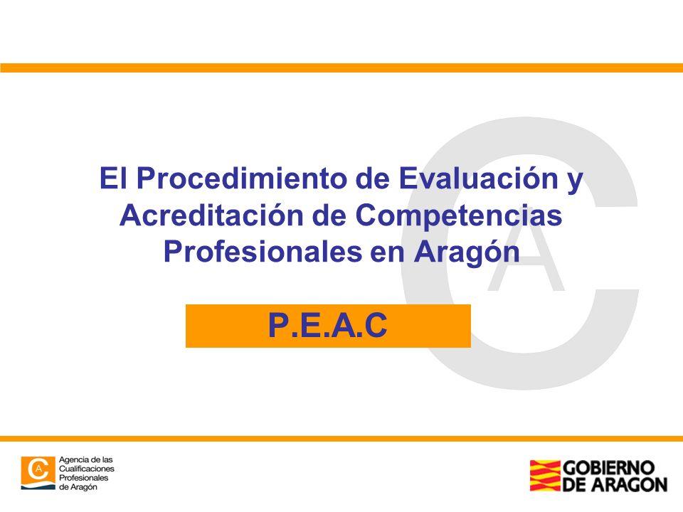 El Procedimiento de Evaluación y Acreditación de Competencias Profesionales en Aragón P.E.A.C