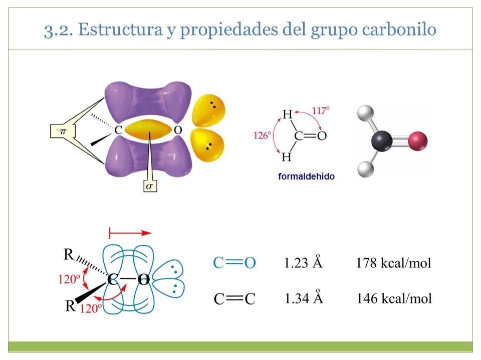 3.2. Estructura y propiedades del grupo carbonilo