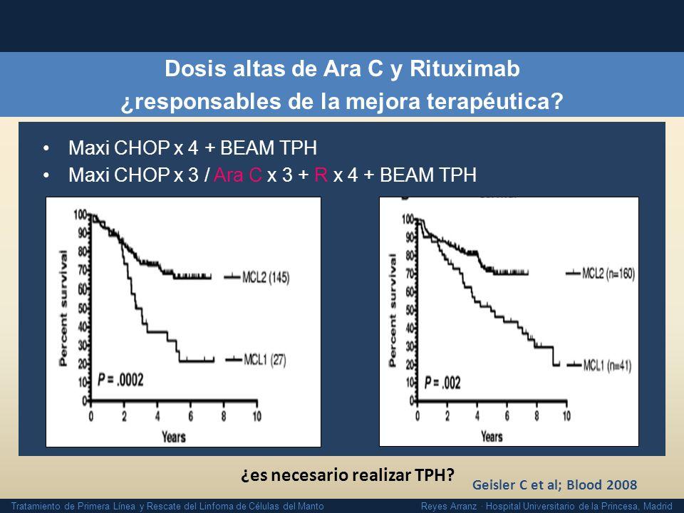 Tratamiento de Primera Línea y Rescate del Linfoma de Células del Manto Reyes Arranz · Hospital Universitario de la Princesa, Madrid Dosis altas de Ar