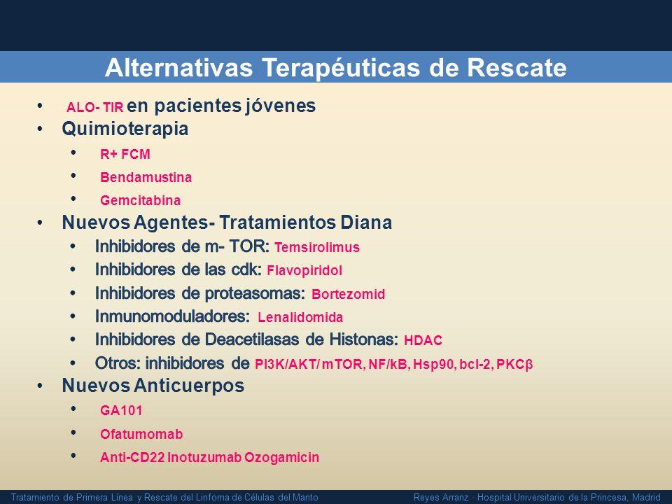 Tratamiento de Primera Línea y Rescate del Linfoma de Células del Manto Reyes Arranz · Hospital Universitario de la Princesa, Madrid Alternativas Tera