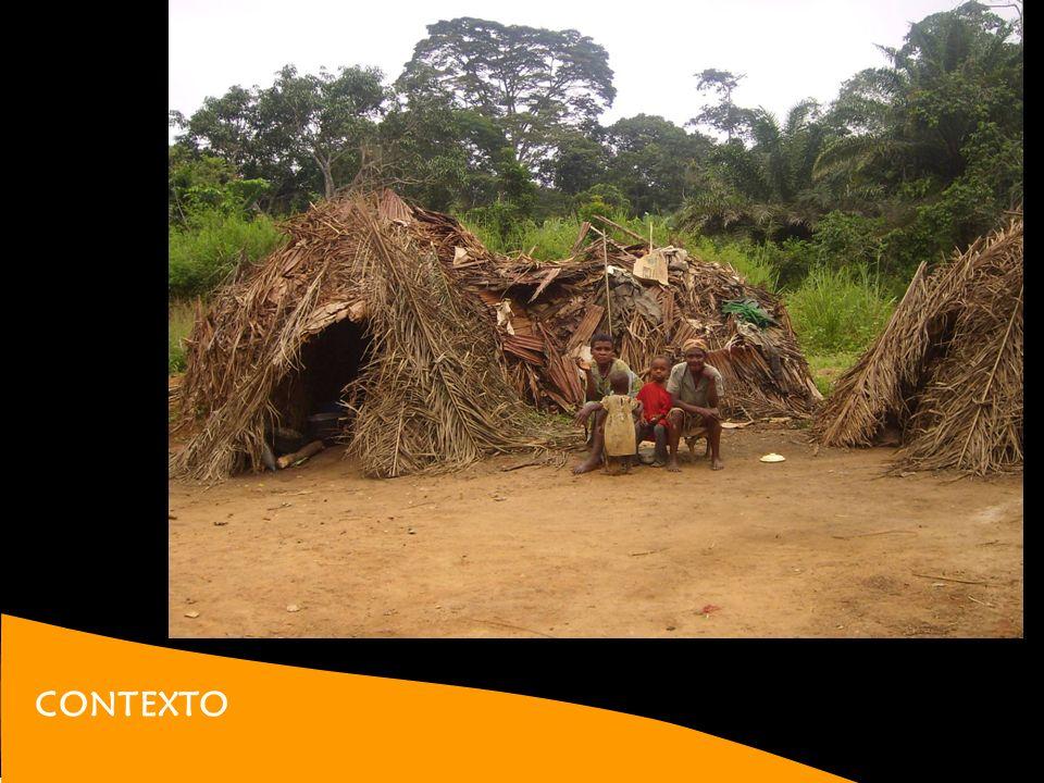 CONTEXTO BAKA Una de las últimas tribus primitivas de la selva Tradicionalmente nómadas. Cazadores, pescadores y recolectores Proceso de sedentarizaci