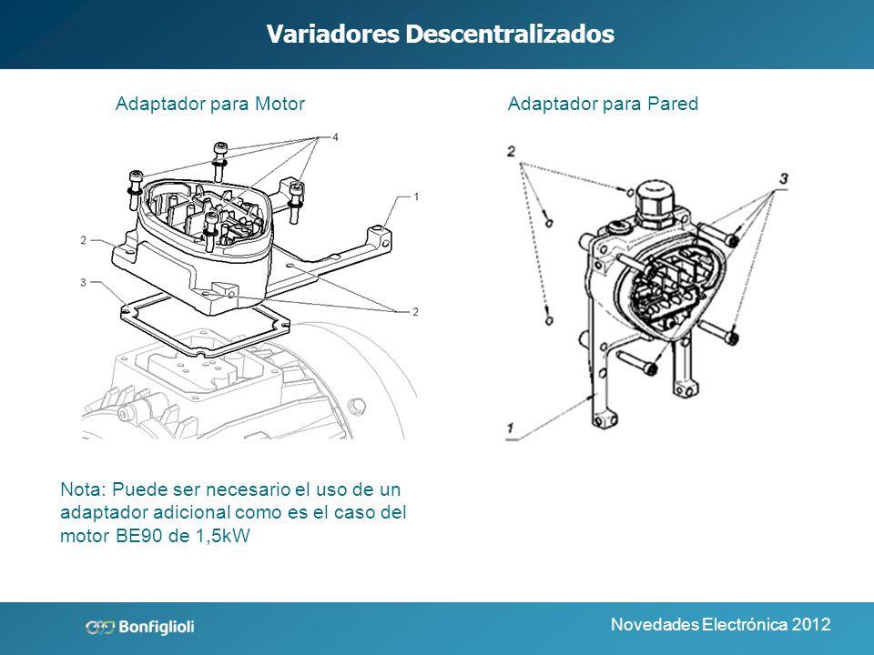 Novedades Electrónica 2012 Variadores Descentralizados Software de Parameterización para PC