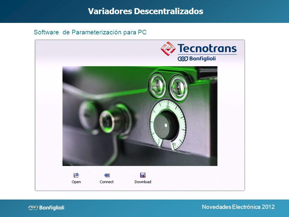 Novedades Electrónica 2012 Variadores Descentralizados Unidad de control Manual MMI