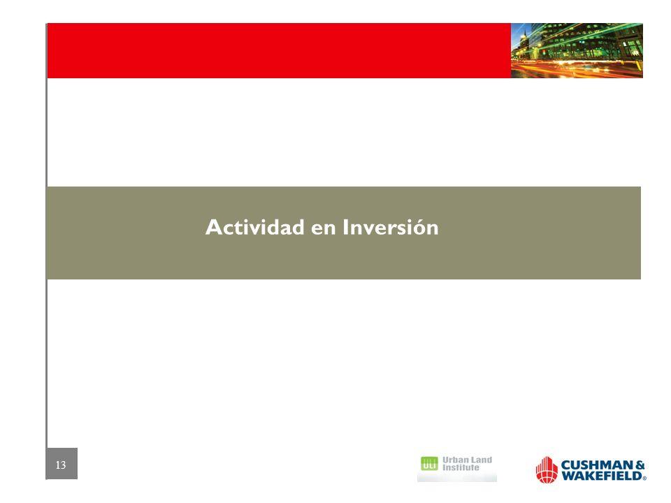 13 Actividad en Inversión