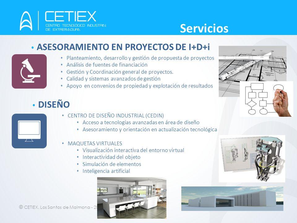© CETIEX. Los Santos de Maimona - 2012 ASESORAMIENTO EN PROYECTOS DE I+D+i Planteamiento, desarrollo y gestión de propuesta de proyectos Análisis de f