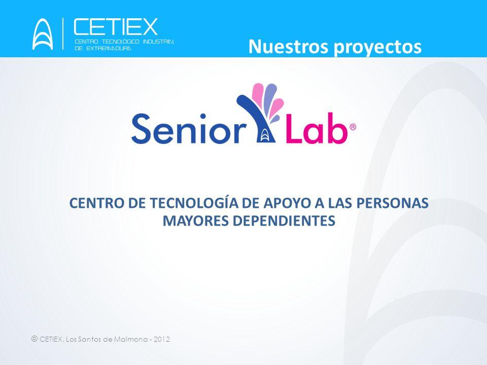 © CETIEX. Los Santos de Maimona - 2012 Nuestros proyectos CENTRO DE TECNOLOGÍA DE APOYO A LAS PERSONAS MAYORES DEPENDIENTES