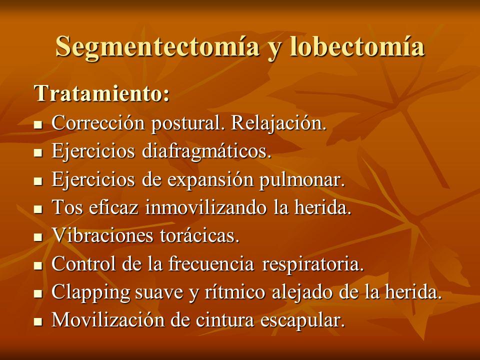 Tratamiento: Corrección postural. Relajación. Corrección postural. Relajación. Ejercicios diafragmáticos. Ejercicios diafragmáticos. Ejercicios de exp