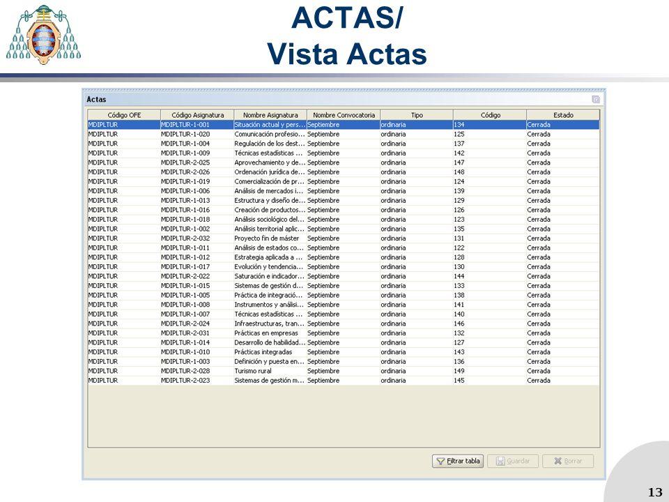 ACTAS/ Vista Actas 13