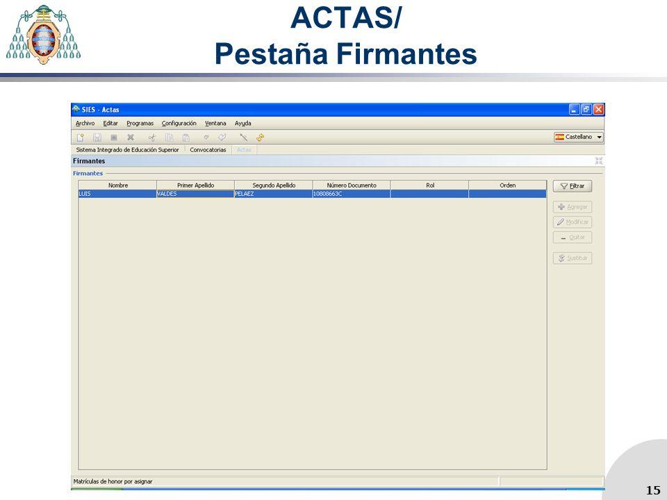 ACTAS/ Pestaña Firmantes 15