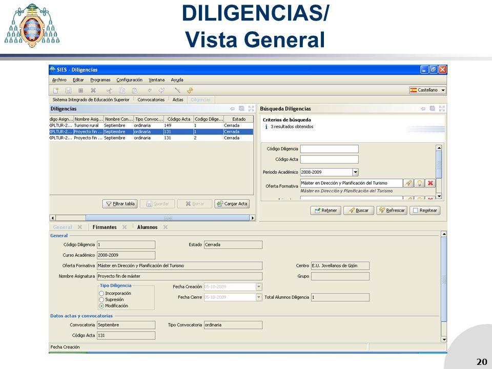 DILIGENCIAS/ Vista General 20