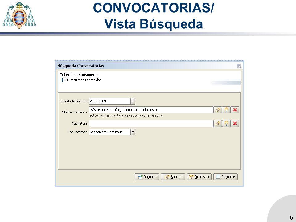 CONVOCATORIAS/ Vista Búsqueda 6